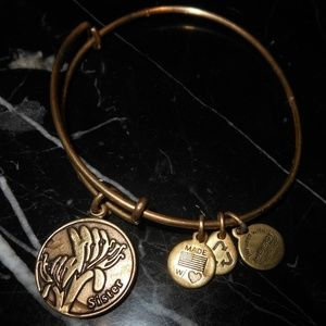 Alex and Ani Jewelry - Alex And Ani Sister Family Charm Russian Gold Bang